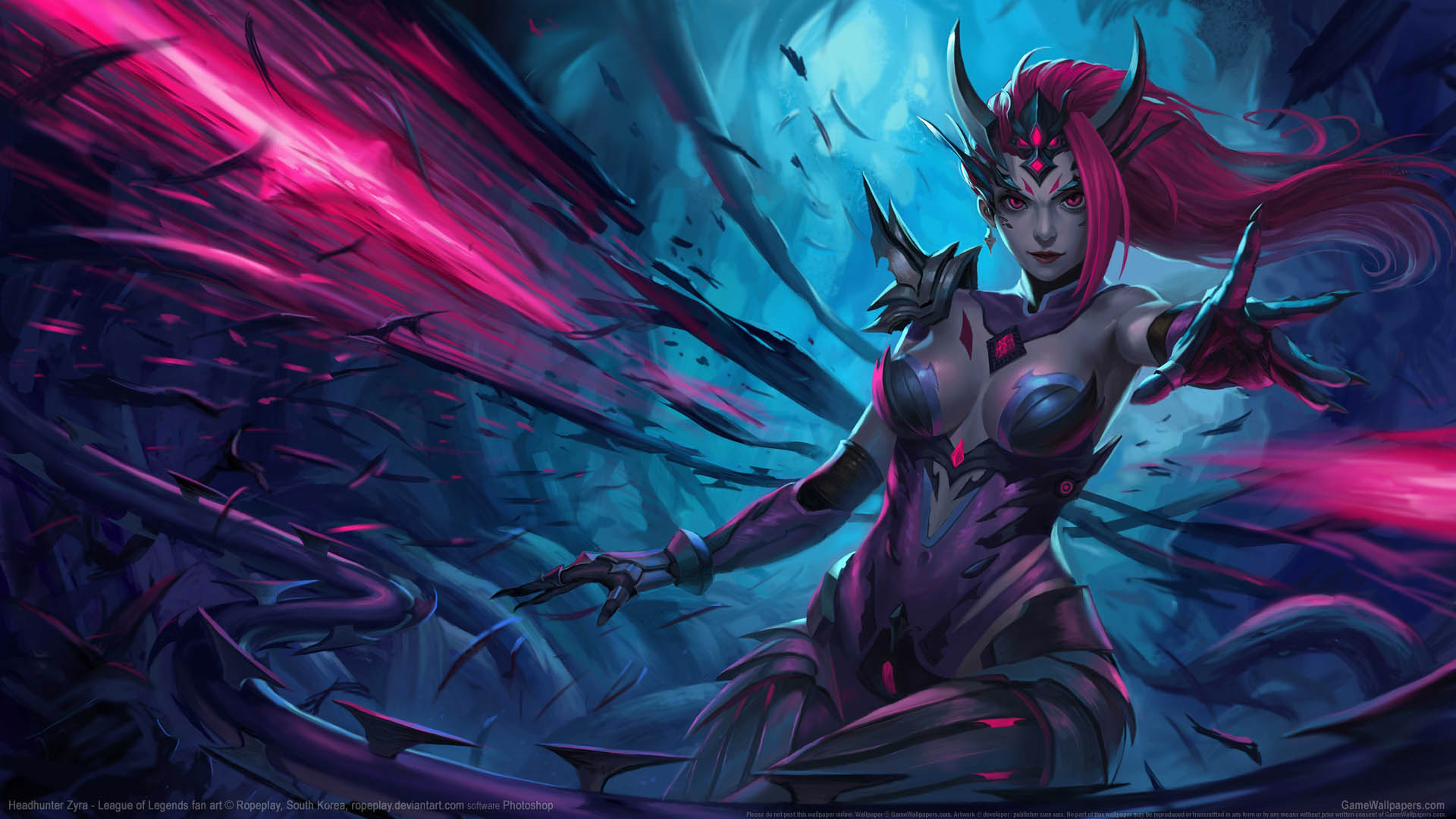 Hd wallpaper tablet - League Of Legends Fan Art Hintergrundbild 01 1920x1080