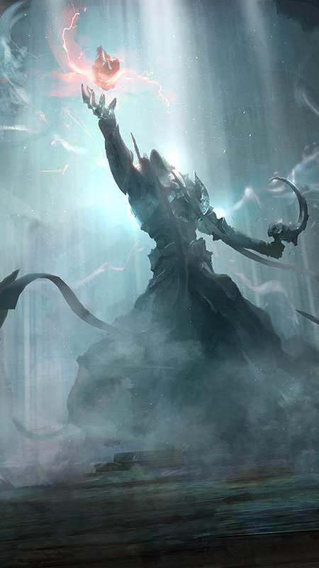 Diablo 3: Reaper of Souls Fan Art Handy Vertikal Hintergrundbild