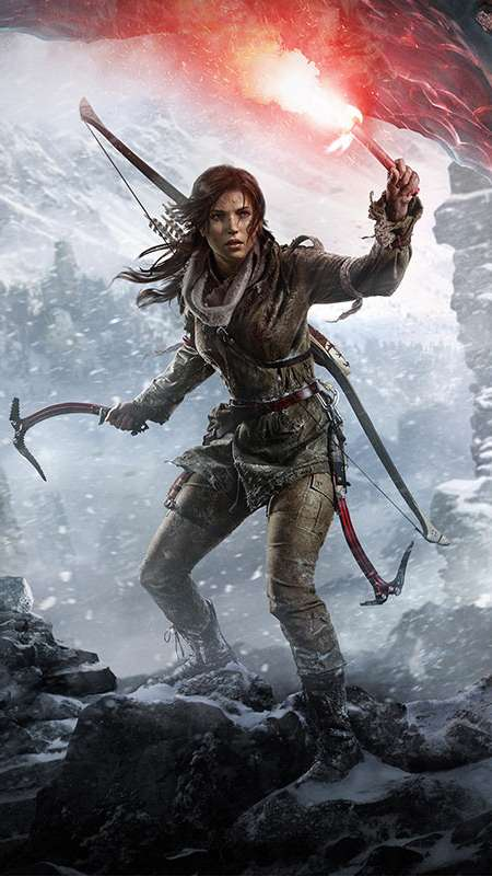 Rise of the Tomb Raider Handy Vertikal Hintergrundbild