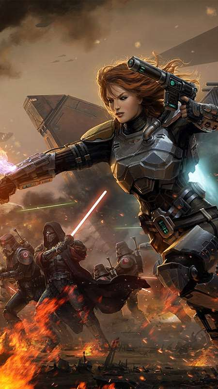 Star Wars: The Old Republic Handy Vertikal Hintergrundbild