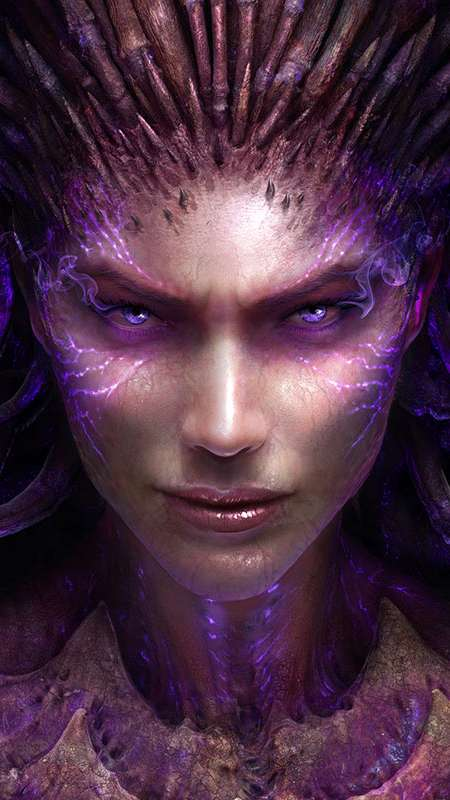 StarCraft 2: Heart of the Swarm Handy Vertikal Hintergrundbild
