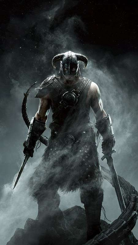 The Elder Scrolls 5: Skyrim Handy Vertikal Hintergrundbild