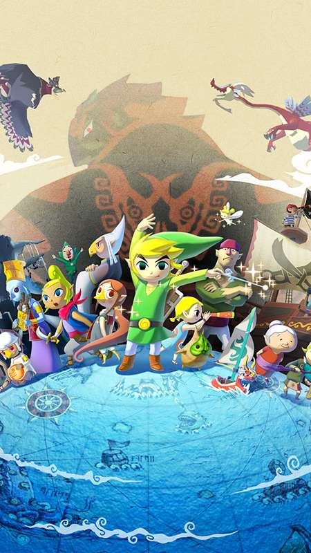 The Legend of Zelda: The Wind Waker HD Handy Vertikal Hintergrundbild