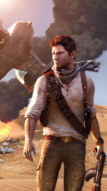 Uncharted 3: Drake's Deception Handy Vertikal Hintergrundbild