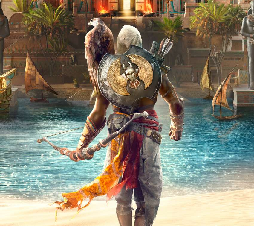 Assassin's Creed: Origins Handy Horizontal Hintergrundbild