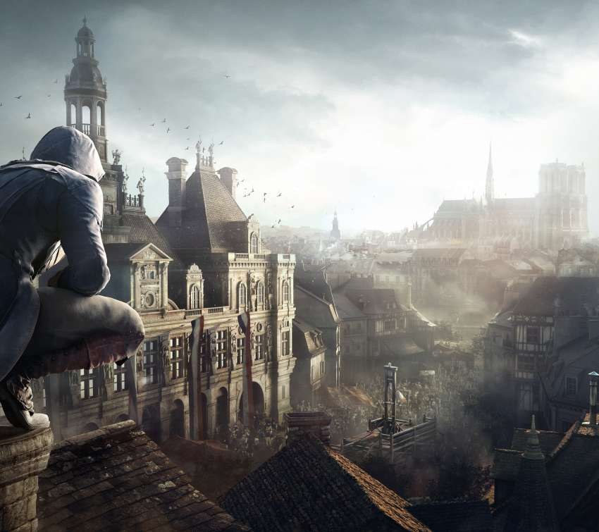 Assassin's Creed: Unity Handy Horizontal Hintergrundbild
