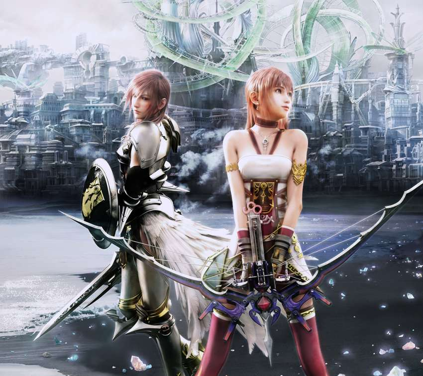 Final Fantasy xiii - 2 Handy Horizontal Hintergrundbild