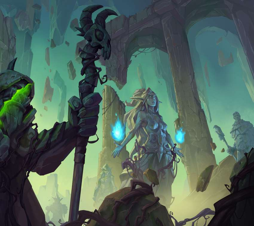 Hearthstone: Ashes of Outland Handy Horizontal Hintergrundbild