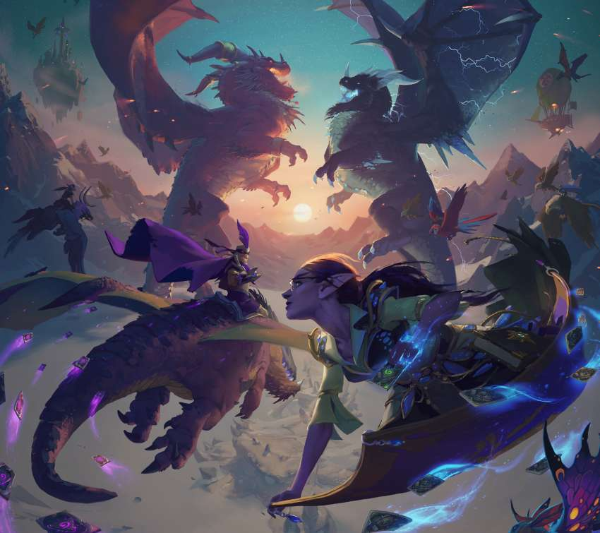 Hearthstone: Descent of Dragons Hintergrundbild