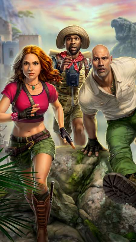 Jumanji: The Video Game Handy Vertikal Hintergrundbild