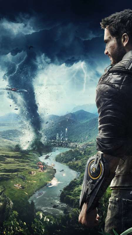 Just Cause 4 Handy Vertikal Hintergrundbild