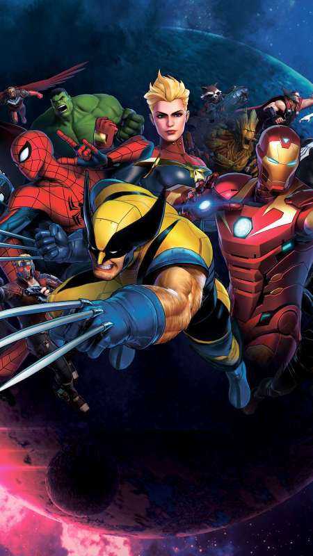 Marvel Ultimate Alliance 3: The Black Order Handy Vertikal Hintergrundbild