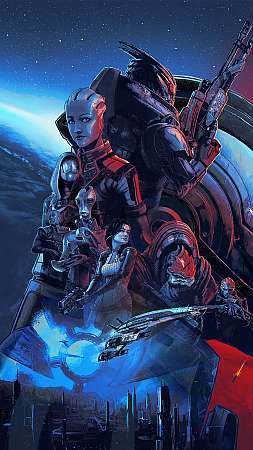 Mass Effect Legendary Edition Handy Vertikal Hintergrundbild