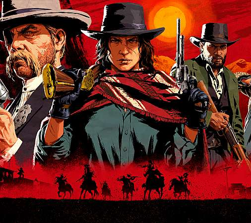 Red Dead Redemption 2 Handy Horizontal Hintergrundbild