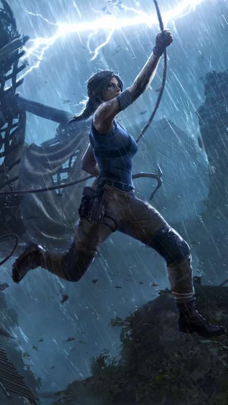 Shadow of the Tomb Raider: The Pillar Handy Vertikal Hintergrundbild