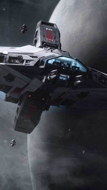 Star Citizen Handy Vertikal Hintergrundbild