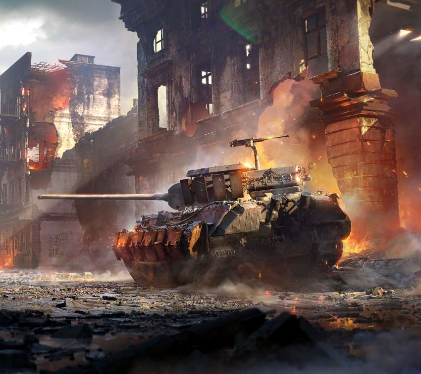 World of Tanks: Mercenaries Handy Horizontal Hintergrundbild