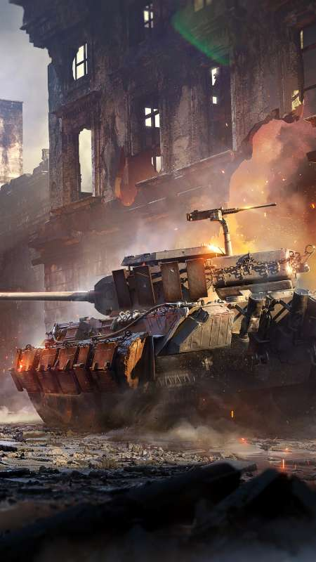 World of Tanks: Mercenaries Handy Vertikal Hintergrundbild