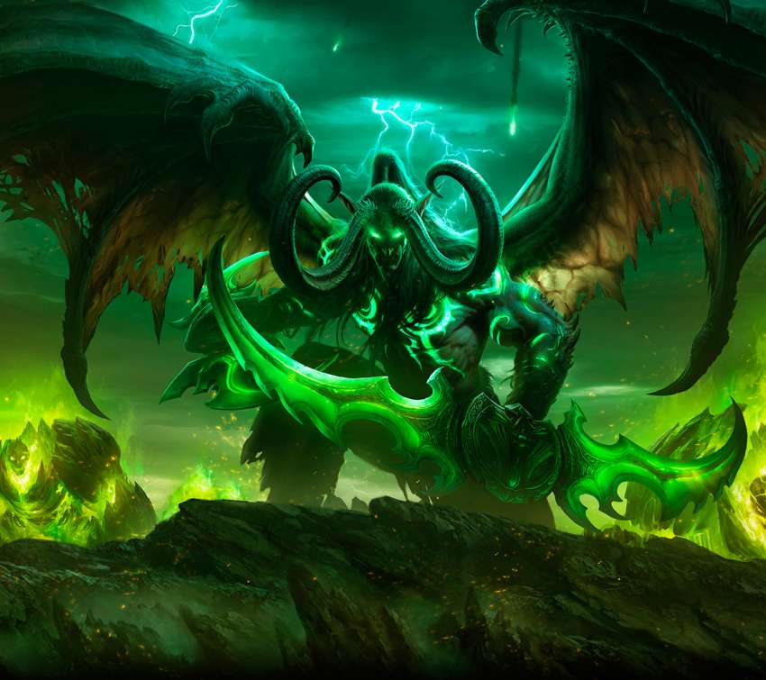 World of Warcraft: Legion Handy Horizontal Hintergrundbild