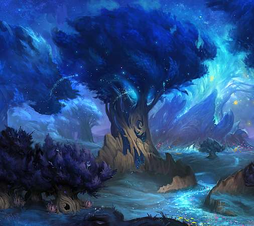 World of Warcraft: Shadowlands Handy Horizontal Hintergrundbild