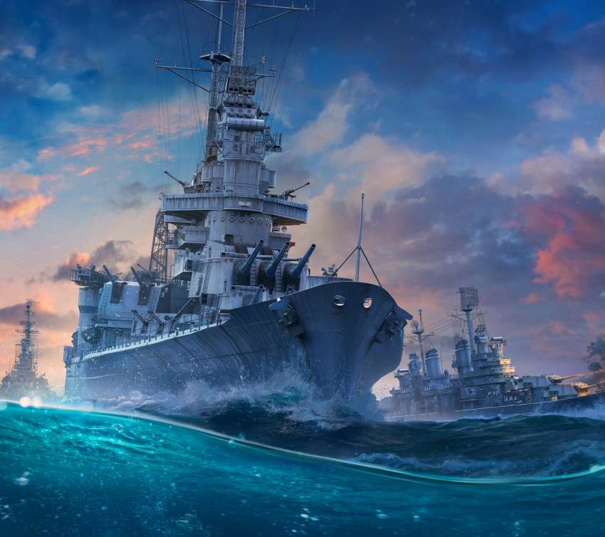 World of Warships Handy Horizontal Hintergrundbild