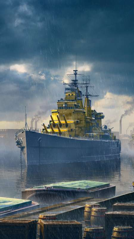 World of Warships Handy Vertikal Hintergrundbild