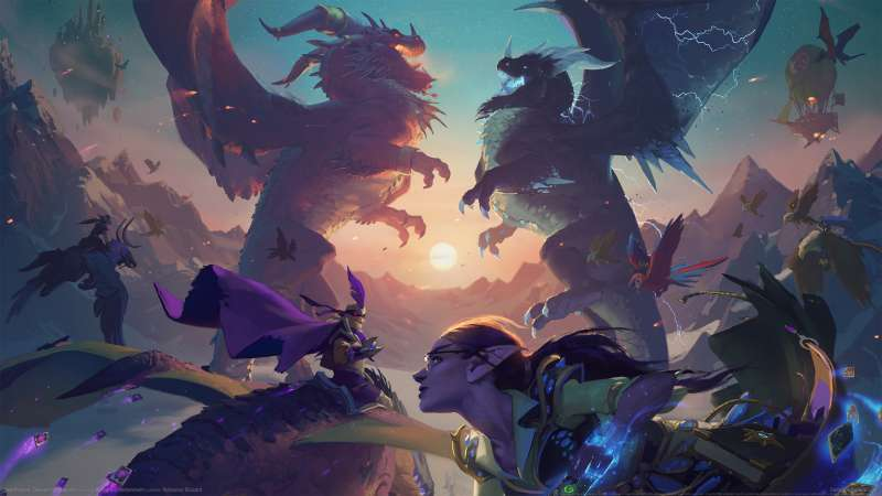 Hearthstone: Descent of Dragons Hintergrundbild 01